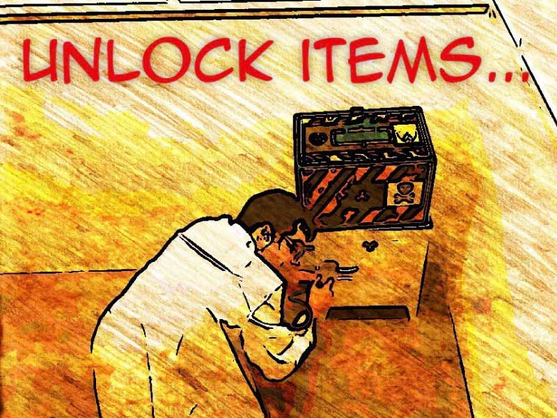 how to play escape room unlock items